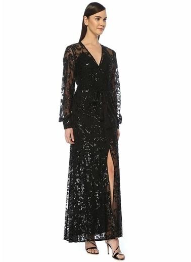 Alexis Alexis Biata  İşlemeli Maksi Tül Abiye Elbise 101489723 Siyah